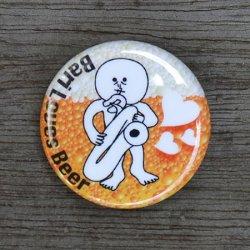 画像1: 東京中低域 『Bari Loves Beer』バッジ