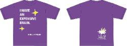 画像1: SUPER JUNKY MONKEY『I HAVE AN EXPENSIVE BRAIN. Tシャツ/紫』